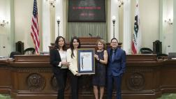 Assemblywoman Rubio standing with the 2019 Nonprofit of the Year
