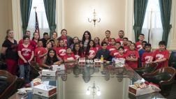 Asm. Rubio, students and chaperones