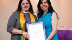 Asm. Rubio presenting award