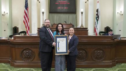 Assemblywoman Rubio with the 2019 Small Business of the Year